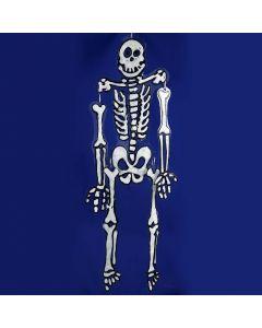 Skelet ophæng af hårdfolie dekoreret med vinduesmaling