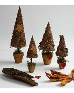 Rustikke juletræer