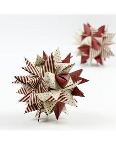 Stor julestjerne af stjernestrimler
