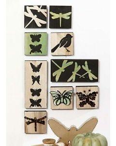 Grønne ikoner med 3D mosaik