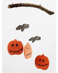 Græskar og flagermus ophæng af Silk Clay til halloween