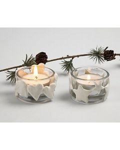 Julelysglas med Silk Clay