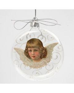 Julekugle med glansbillede