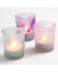 Lysglas i frostede pastelfarver