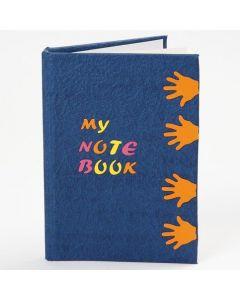 Notesbog med udstansede figurer