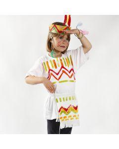 Indianertøj malet med Textile Color