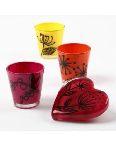 Glas, dekoreret med Glass Ceramic