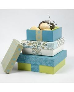 Æsker i pap med håndlavet papir