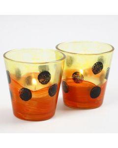 Lysglas med glasmaling