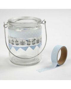 Lygter, dekoreret med Masking Tape