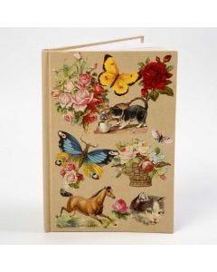 Kinabog med collage af glansbilleder