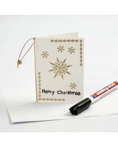 Julekort med stickers i guld
