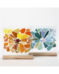 Glasmosaik på glasplader