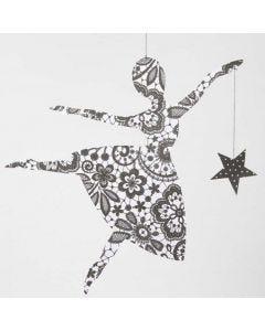 Ballerina med stjerne i Paris designpapir