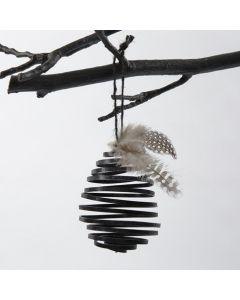 Æg af spiral i flad bonzaitråd