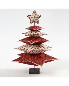 Juletræ af filtstjerner på metalstang med fod