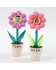 Fotos af børn i blomster af Silk Clay