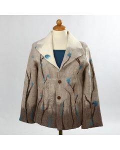 Jakke af filtet blød Merino uld