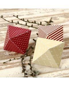 Diamant som saml-selv af designpapir fra Vivi Gade