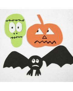 Frankensteins monster, græskar og flagermus af mosgummi påsat magneter