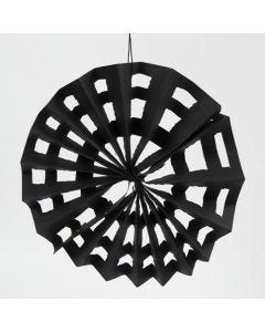 Edderkoppespind af sort karduspapir