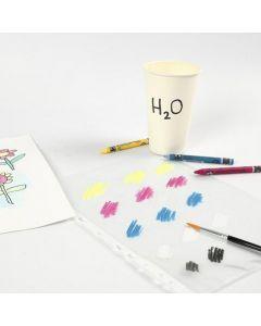 Farvepalette med Neocolor II på plastlomme