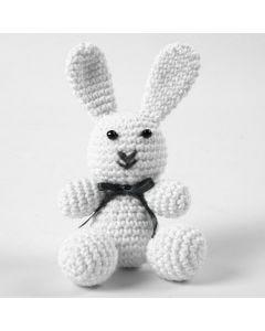 Hæklet kanin af bomuld
