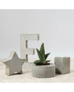 Boliginteriør af støbt beton
