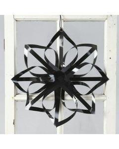 Stjerne af blanke papirstrimler fra Vivi Gade
