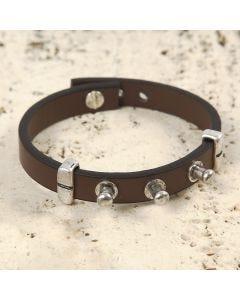 Armbånd af læderbånd med geværknapper