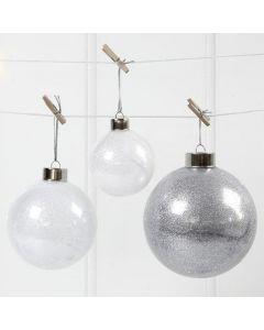 Julekugler med glitter indvendig