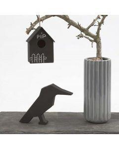 Fuglehus med tavlemaling til fri dekoration med kridt