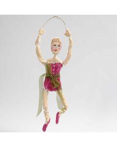 Ballerina af bonzaitråd i guld med pulp