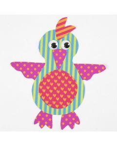 Papegøje af mønstret karton