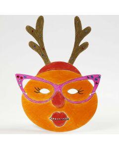 Malet og pyntet maske til jul