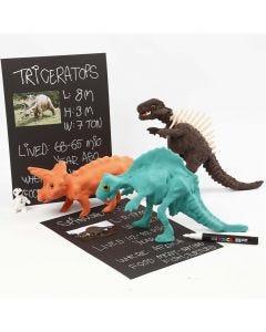 Skelet af dinosaur beklædt med Silk Clay