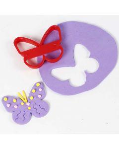 Udstukket sommerfugl af Silk Clay