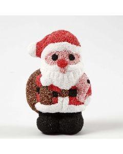Julemand af styropor beklædt med Foam Clay