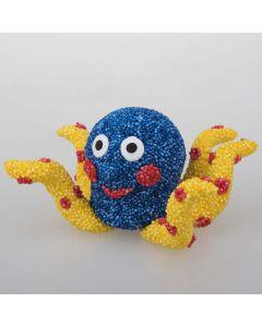 Modelleret blæksprutte af Foam Clay og Silk Clay