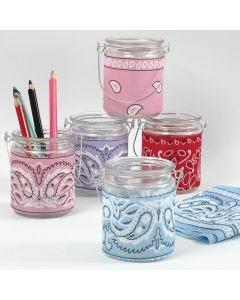 Lysglas med decoupage af bandana