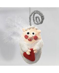 Engel af styrpor med Foam Clay og Silk Clay