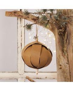 Julekugle af læderpapir stjernestrimler