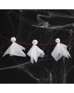 Spøgelser af silkepapir med rulleøjne