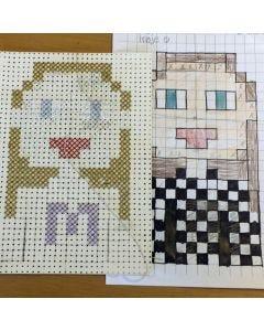 Pixel art med korssting
