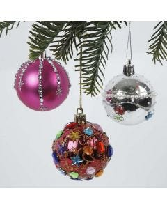 Plast julekugler