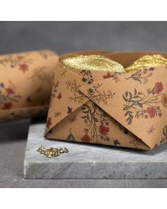Kurv i læderpapir sat sammen med nitter