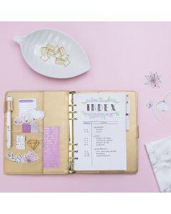 Indeksside til Bullet journal og planner