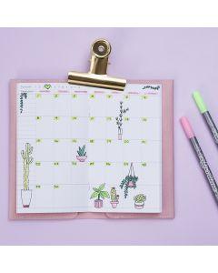 Dekoreret ugekalender til Bullet journal og planner