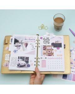 Månedligt overblik i Bullet journal og planner