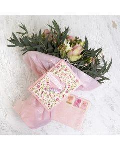 Shaker kort og kuvert dekoreret med håndlavet papir